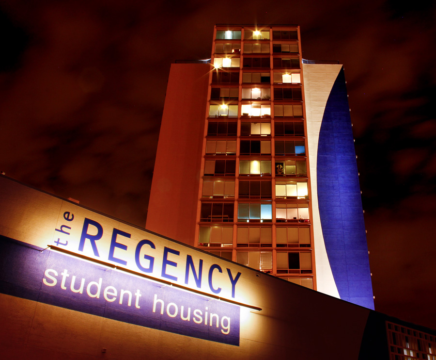 Regency Student Housing Night Shot